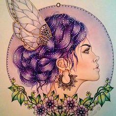 Perfeição em cada detalhe! By  @jaki21x   @hannakarlzon  #dagdrömmar #hannakarlzon #desenhoscolorir #adultcolouringbook #coloringbook #illustration