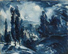Maurice de Vlaminck (French, 1876 - 1958) Blue Landscape, N/D Oil on canvas