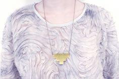 V Steps Brass Necklace