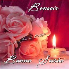 Bonsoir, Bonne Soirée #bonsoir fleurs roses bouquet bougie