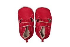 Genuine leather soft shoes for baby girls, with cutouts and bow detail. From Naartjie Kids SA.