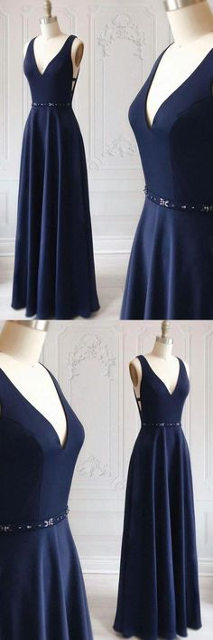 Simple blue v neck long prom dress, blue evening dress, Shop plus-sized prom dresses for curvy figures and plus-size party dresses. Ball gowns for prom in plus sizes and short plus-sized prom dresses for Navy Blue Formal Dress, Prom Dresses Blue, Prom Gowns, Dress Formal, Sexy Dresses, Bridesmaid Dresses, Women's Evening Dresses, Popular Dresses, Luxury Dress
