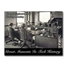 Great Moments In Tech History - Postcard http://www.zazzle.com/great_moments_in_tech_history_postcard-239229013857078735 #tech #history #postcard #humor #humour
