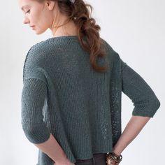 Davis, knit in Kestrel, by Pam Allen