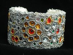 Beaded Cuff Bracelet by Tina Hauer