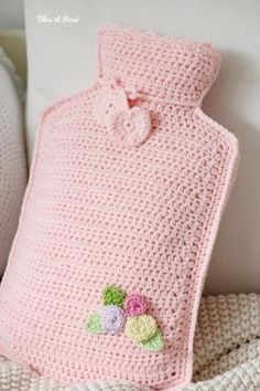 Crochet hot water bottle by MacsAngel