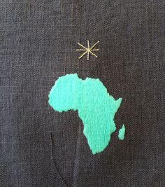 simple Africa embroidered at Ibaba Rwanda