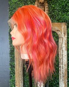 Custom Colored Tequila Sunrise Wig  12 Brazilian Human Hair | Etsy