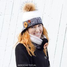 Ensemble Nunavut noir et blanc Crochet Adult Hat, Crochet Hats, Crochet Patterns, Winter Hats, Etsy, Boutique, Oui, Collection, Image