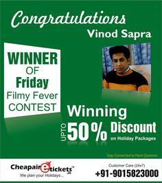 Winner of Cheapairetickets.in