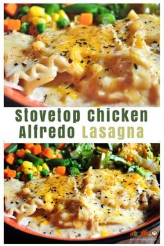 Chicken Alfredo Lasagna on the Stovetop- Homecooked Easy Meal Ideas ...