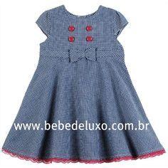 Vestido Infantil Youngland 24meses - Xadrez Azul