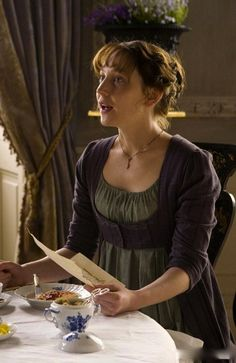 Hattie Morahan as Elinor Dashwood in Sense and Sensibility (TV Mini-Series, 2008).