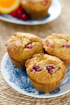 Paleo Cranberry Orange Muffins  #glutenfree #grainfree