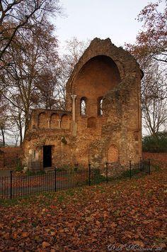 'Barbarossa-ruïne-Valkhof in Nijmegen, The Netherlands