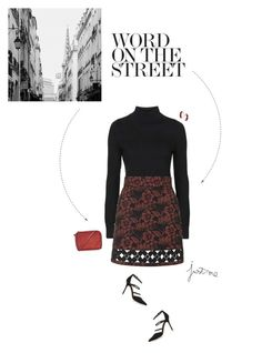 """Red & Black Outfit."" by xabbielou ❤ liked on Polyvore featuring Topshop"