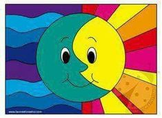 Color Art Lessons, Drawing Lessons For Kids, Art Drawings For Kids, Art For Kids, Classroom Art Projects, Art Classroom, Art Du Monde, Abstract Face Art, Warm And Cool Colors
