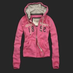Abercrombie and Fitch Frauen Full Zip Hoodies AF0342 Rosa.€38.65