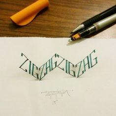 Zig Zag lettering - Buscar con Google