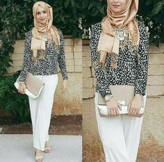 mariamtja Modest Fashion, Hijab Fashion, Women's Fashion, Fashion Tips, Girl Hijab, Hijab Outfit, Hijabs, Muslim Women, Palazzo Pants