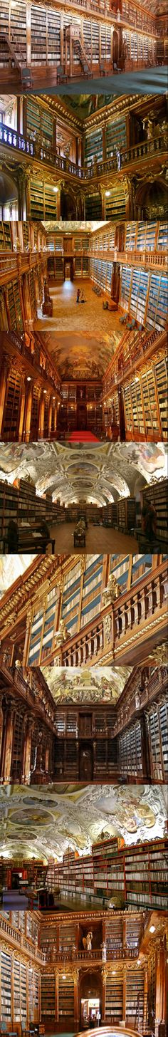 Strahov Monastery, #Prague....... Nerd porn.