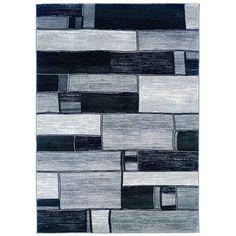 LNR Home Adana Charcoal Grey Abstract Area Rug (1'10 x 3'1) (Charcoal/Grey Rug), Black, Size 2' x 3'