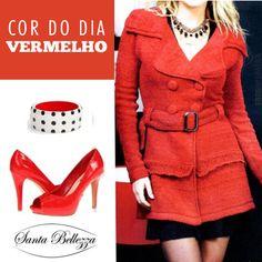 O #vermelho é paixão. A cor do sábado. Inspirem-se meninas. Aproveite para passar em nossa loja no Norte Sul Plaza ou visite no link www.santabellezza.com.br
