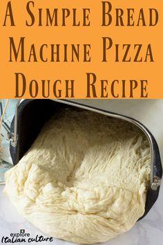 A simple to make bread machine pizza dough recipe. Make your own delicious pizza dough the easy way! Pizza Dough Bread Machine, Bread Machine Mixes, Bread Machine Rolls, Dough Machine, Easy Bread Machine Recipes, Best Bread Machine, Bread Maker Recipes, Pizza Recipes, Pizza Dough Recipe Quick