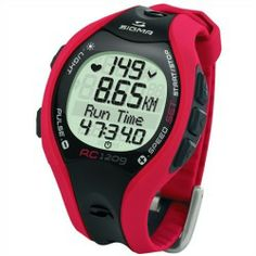 Cheap Sigma RC 1209 Running Heart Rate Monitor Digital Watch w/ Chest Belt - Red price - Trip distance speed and heart rate values are important parameters for a runner. With the new R3 Comfortex  chest belt SIGMA SPORTA enables the measuring of these three values in one device and without additional accessories like for instance a foot...