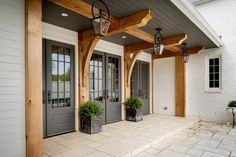 Marvin's Ultimate Swinging French Doors with an ebony exterior.