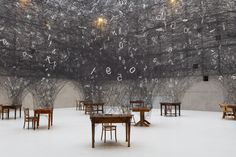 Counting Memories is a current site-specific, large scale installation by Chiharu Shiota at the Muzeum Śląskie in Katowice, Poland. Visual, Japanese Artists, Interactive Installation, Colossal Art, Installation, Clouds, Sculpture Installation, Contemporary Art, Street Art