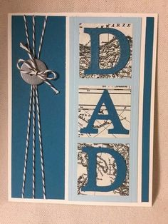 Stampin Up Handmade Father's Day Card made day card, – Handgefertigte Karten – Vatertag Fathers Day Cards Handmade, Mothers Day Cards, Handmade Birthday Cards, Greeting Cards Handmade, Cards For Dads, Father's Day Greeting Cards, Masculine Birthday Cards, Birthday Cards For Men, Masculine Cards