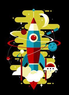 Ракета, Иллюстрация © Ксения Быстрова