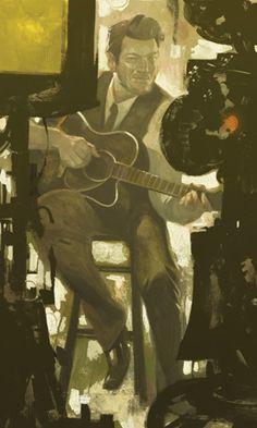 Black Shelton illustration by Sterling Hundley for Rolling Stone Magazine album review