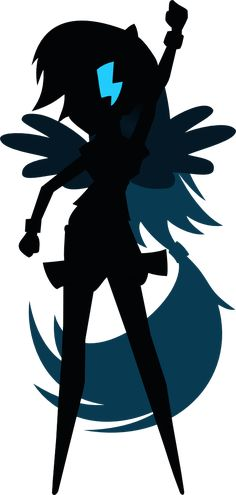 Rainbow Dash Silhouette Vector by MyLittleAppleBloom on DeviantArt
