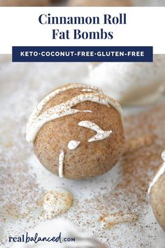 These Cinnamon Roll Fat Bombs are a perfect keto-friendly dessert to curb your sweet tooth! These fat bombs are low-carb, keto, gluten-free, grain-free, vegetarian, refined-sugar-free, and only 1.4g net carbs! #lowcarb #keto #glutenfree #grainfree #vegetarian #refinedsugarfree #fatbomb #fatbombs #vegetarianketo #ketodessert
