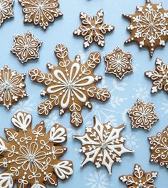 Snow flakes Gingerbread man