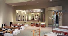 Pilates Studio design- the sconces are nice but I'm not sure I  want 'up' lights