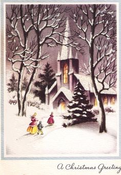 The best Christmas cards have sweet little churches on them