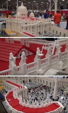 This model Vatican is made out of Lego