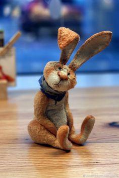 Купить - Clever Jerome - кролик тедди - тедди, кролик, оранжевый, подарок, зайка, авторская работа