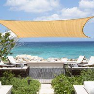 2.4m Triangle Canopy Sun Shade Sail Water Resistant UV Block Patio Awning Garden