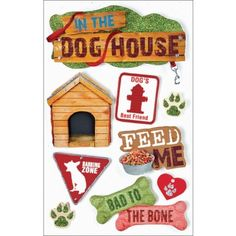 PAPER HOUSE-Dimensional Stickers: Dogs. These 3-D stickers are beautiful on cards, scrapbook pages, album covers, boxes, and more!