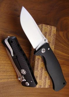 Lionsteel Molletta with Satin Blade and Black Handles EDC Folding Pocket Knife Blade - Everyday Carry