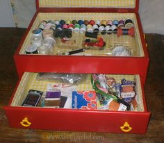 Thrifty Rebel--make-a-cutlery-chest-into-a-sewing-box