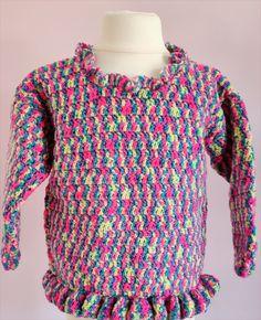 Jewel+Sweater, £22.99 Girls Sweaters, Cardigans, Girls Designer Dresses, Button Flowers, Sweater Design, Yarn Colors, Serendipity, Simple Dresses, Hand Crochet