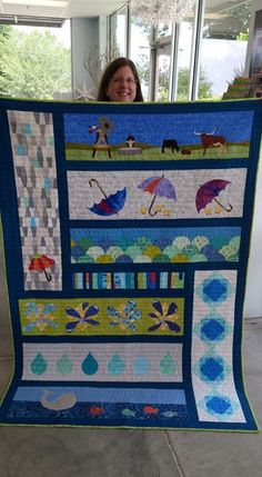 Another layout idea. add a bigger border though. Boys Quilt Patterns, Modern Quilt Patterns, Row By Row 2016, Row By Row Experience, Neutral Quilt, Sampler Quilts, Boy Quilts, Panel Quilts, Applique Quilts