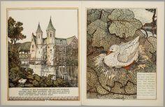 Het leelijke jonge eendje, pag. 2-3: naar het sprookje / van H. C. Andersen ; geteekend en gelithographeerd door T. van Hoytema,Amsterdam, C.M. van Gogh, 1893