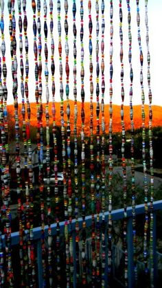 Paper bead curtain.