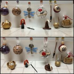 Here it is: a complete set of 12 Harry Potter Christmas tree ornaments.